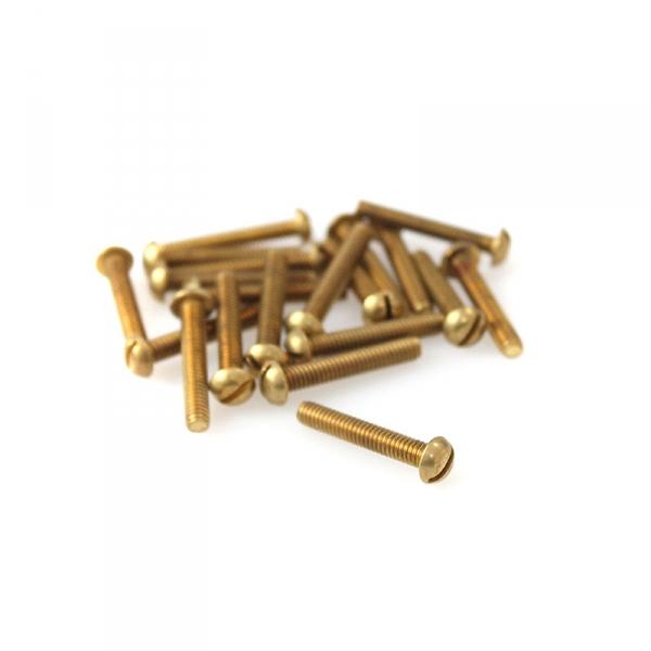"""Brass Round Head Slotted Screws - 8/32"""" x 1"""""""