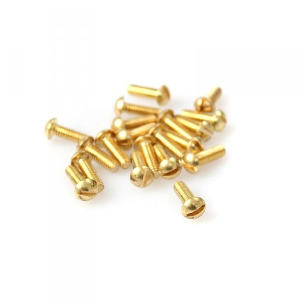 """Brass Round Head Slotted Screws - 8/32"""" x 1/2"""""""