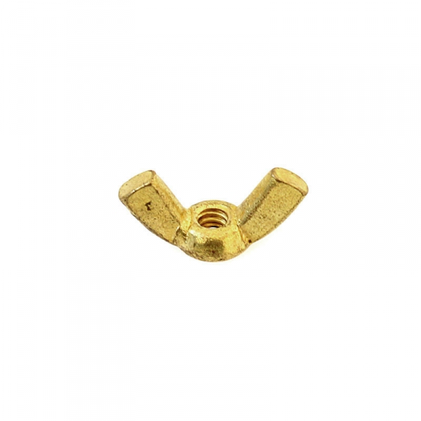 Brass Wing Nuts 6/32""