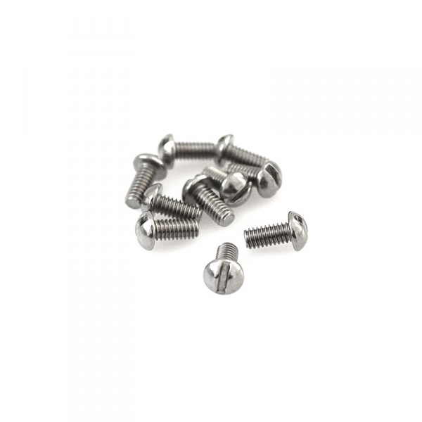 "Stainless Round Head Slotted Screws - 8/32"" x 3/8"""
