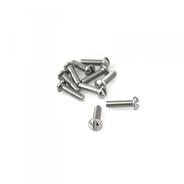 "Stainless Round Head Slotted Screws - 8/32"" x 5/8"""