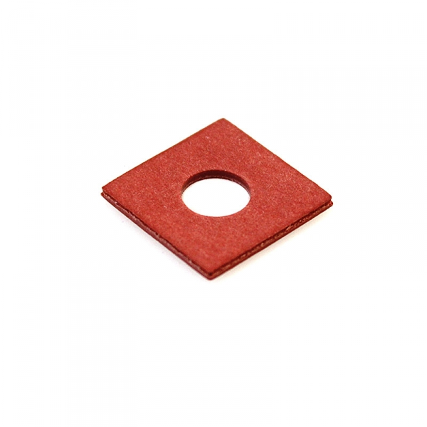 Thick Square Fiber Coil Washer Red