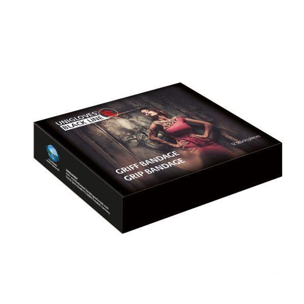 UNIGLOVES Griff Bandage - schwarz, elastisch, 5 cm x 4,5 m - 12 Stück pro Box