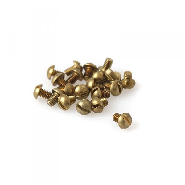 """Brass Round Head Slotted Screws - 8/32"""" x 1/4"""""""