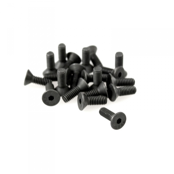 "Black Flat Head Allen Coil Screws - 8/32"" x 1/2"""