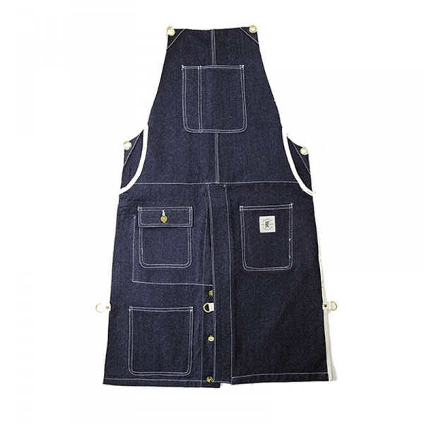 Knife & Flag Split-Leg Apron Denim