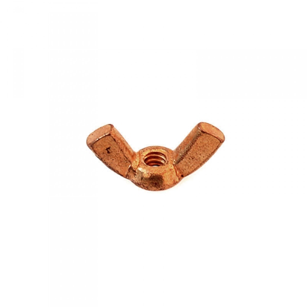 Copper Plated Brass Wing Nuts 6/32""