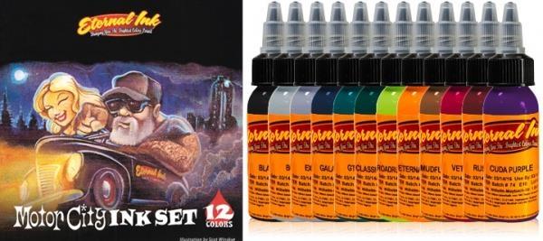 Motor City Ink Set - 12 Farbtöne 15 ml