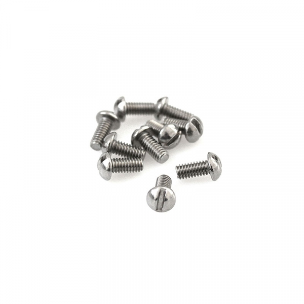 """Stainless Round Head Slotted Screws - 8/32"""" x 3/8"""""""