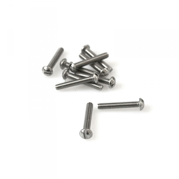 "Stainless Round Head Slotted Screws - 8/32"" x 1"""