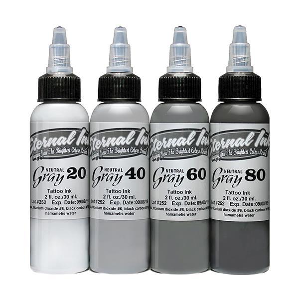 Eternal Ink Neutral Gray Set - 4 Farbtöne 30 ml
