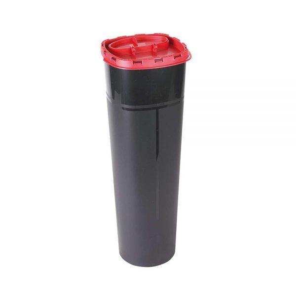 Kanülenabwurfbehälter 5 Liter, Schwarz