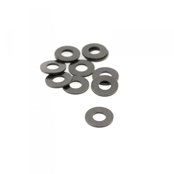 Washers Large - Black Steel #8