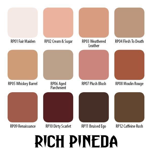 Rich Pineda Flesh to Death Set - 12 Farbtöne 15 ml
