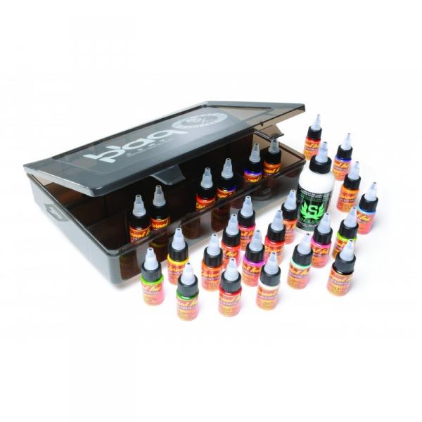 Eternal Ink Travel Set - 25 Farbtöne 15 ml + Stencil Stuff + Green Soap