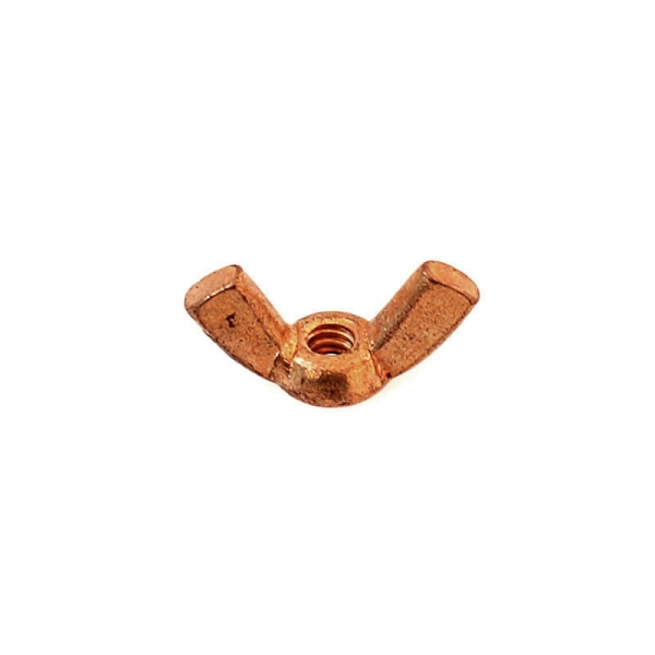 """Copper Plated Brass Wing Nuts 6/32"""""""