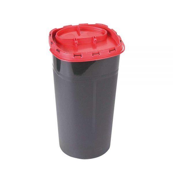 Kanülenabwurfbehälter 3 Liter, Schwarz
