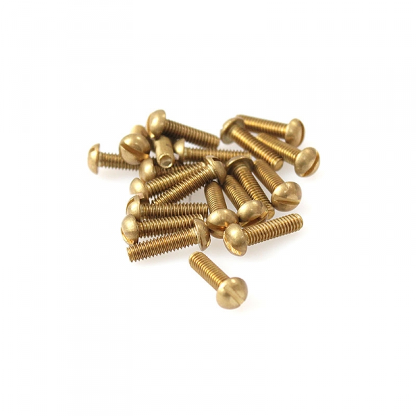 "Brass Round Head Slotted Screws - 8/32"" x 5/8"""