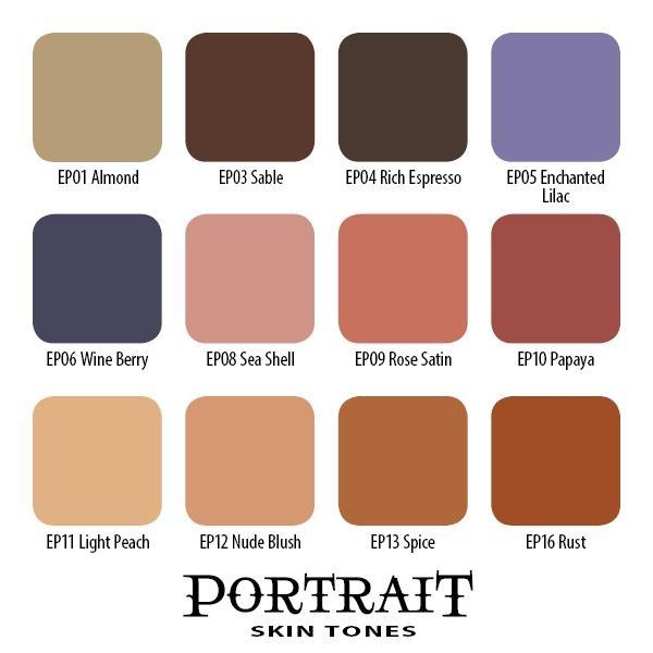 Portrait Skin Tones Set - 12 Farbtöne 15 ml