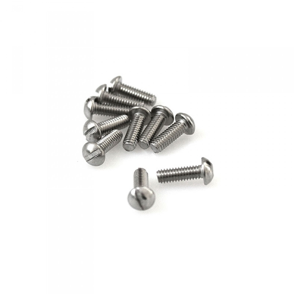 "Stainless Round Head Slotted Screws - 8/32"" x 1/2"""