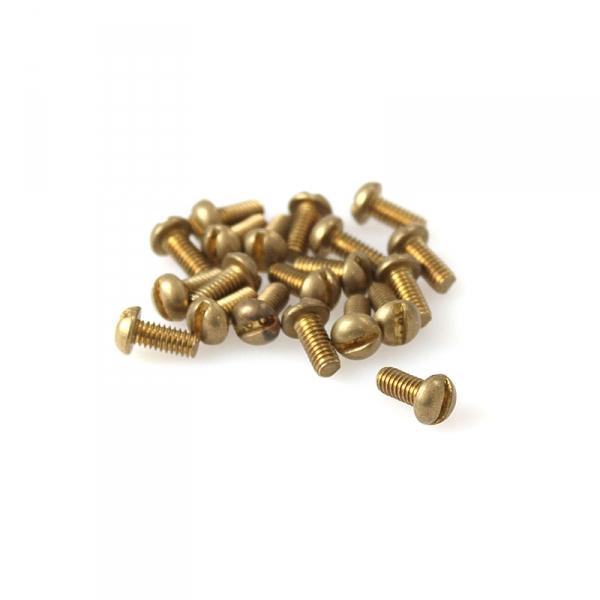 """Brass Round Head Slotted Screws - 8/32"""" x 3/8"""""""